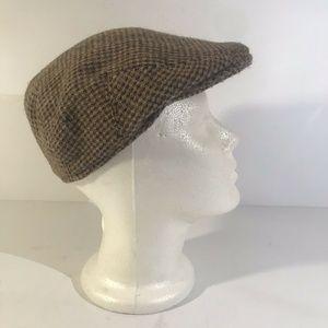 Vintage LL Bean Cabbie Hat Newsboy Harris Tweed M